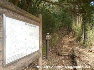 宮城野の明神ヶ岳登山口