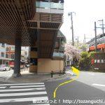 箱根湯本駅から裏通りに入る