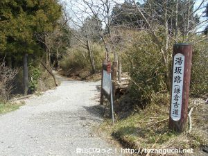 湯坂路入口(鷹ノ巣山・浅間山登山口)