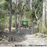 甘酒茶屋の裏手にある須雲川自然探勝路の入口
