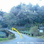 筏場のワサビ田から林道に入る