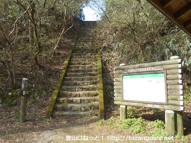 船原峠の伊豆山稜線歩道の登山口