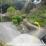 蓮台寺駅側の高根山登山口手前の小橋