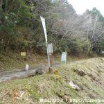 水神社の参道入口の左手上に続く林道