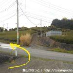 東海大学沼津キャンパス跡地に向かう途中の農道から車道に出たところ
