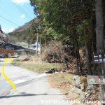 徳和渓谷に向かう林道の入口