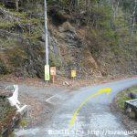 峰谷バス停の1kmほど北で橋を渡って右にカーブするところ