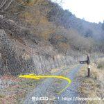 峰谷の鷹ノ巣山の浅間尾根コースの登山口に入るところ