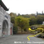 碑林公園の孔子廟の入口前