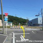 県道11号線の富田バイパスを横切る