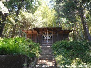 客人神社の本殿