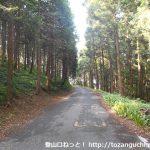 唐沢山の登山口に向かう途中の林道